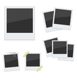 Set Polaroid photo frames on white background vector image vector image