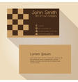 simple brown blocky simple business card design vector image vector image