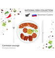 slovenian cuisine european national dish vector image vector image