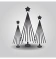 Stylized triple christmas trees vector image