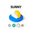 Sunny icon in different style vector image vector image