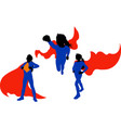 supergirl in a cloak vector image vector image