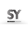 sy s y lines letter design with creative elegant vector image vector image