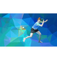 table tennis player triangle polygonal low poly vector image
