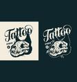 tattoo studio monochrome vintage badge vector image vector image