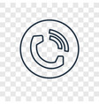 telephone concept linear icon isolated on vector image