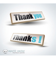 thank you banners vector image