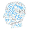 Tips On Homeowners Insurance Simplified text vector image vector image
