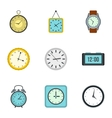 Watch icons set flat style vector image