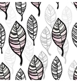 Watercolor stylized leaves seamless pattern vector image vector image