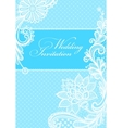 Wedding invitations with vintage lace background vector image vector image