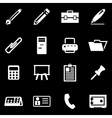 white notes icon set vector image vector image