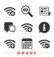 Wifi wireless network icons wi-fi add remove
