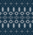 Winter or Christmas background with Norway knitted vector image