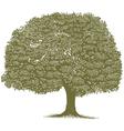 Woodcut Tree vector image vector image