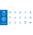 15 success icons vector image vector image