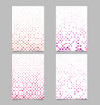 Abstract circle pattern poster template set