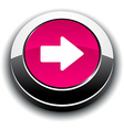 Arrow 3d round button vector image vector image