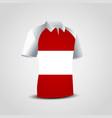 austria flag shirt design vector image