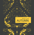 autumn banner with bright poplar leaf vector image