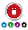 Battery level sign icon Electricity symbol vector image vector image