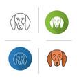 beagle icon vector image vector image