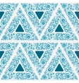 Blue seamless ornament for wallpaper vector image vector image