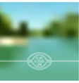Blurred summer lake background vector image