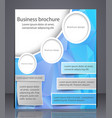 business brochure blue flyer template vector image vector image