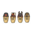canopic jars egyptian elements for mummification vector image vector image