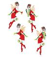 Christmas Elf Girl2 vector image vector image
