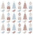christmas seamless pattern with balls christmas vector image