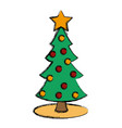 christmas tree isolated vector image