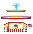circus stages and fountain on white background vector image