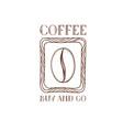 coffee bean icon hand drawn doodle sketch symbol vector image vector image