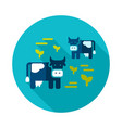 cow on a pasture icon vector image vector image