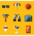 Flat icon set Travel vector image vector image