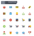 flat shopping icons set vector image vector image