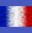 france flag polygonal vector image vector image