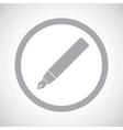 grey ink pen sign icon vector image vector image