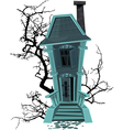 Haunted halloween witch house isolated on white vector image vector image