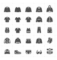 icon set - clothing man filled icon style vector image vector image