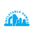 inflatable games logo emblem for water park vector image