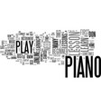 it s never too late to take a beginner piano vector image vector image