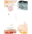 japanese template with watercolor texture vector image vector image