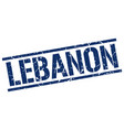 Lebanon blue square stamp vector image