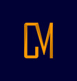 letter cm minimalist creative logo design vector image vector image