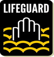 Lifeguard sign vector image vector image