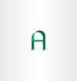 logo green letter a icon vector image vector image