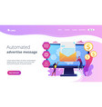 marketing automation system concept landing page vector image vector image